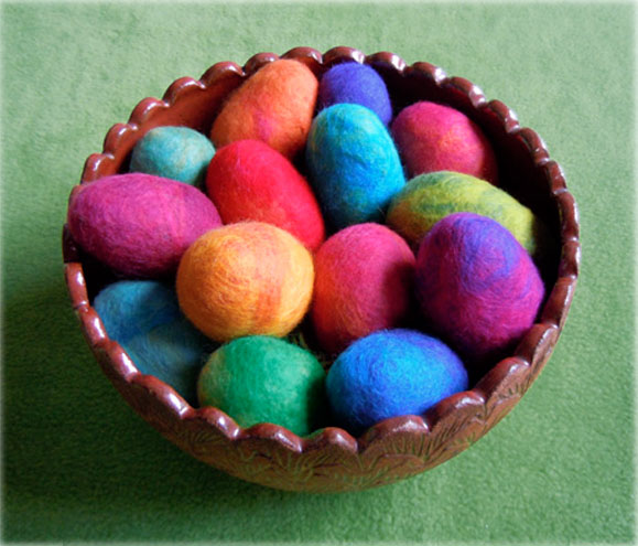felted eggs Felted Eggs