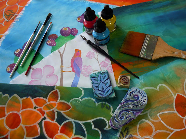 AcrlcInkPerez New Acrylic Inks class!!!