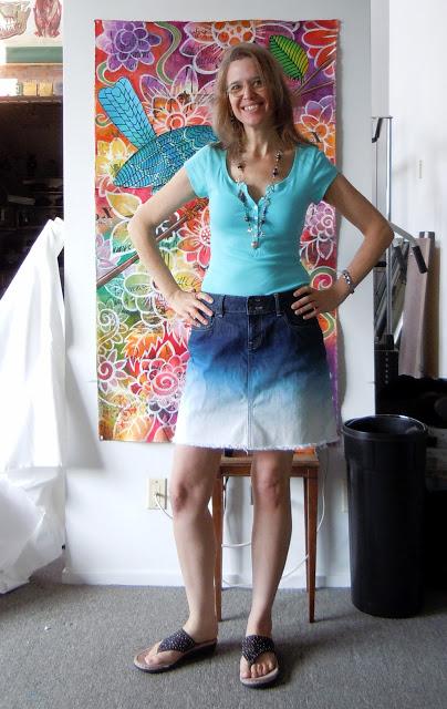 DSCN2504 DIY Ombre Jean Skirt