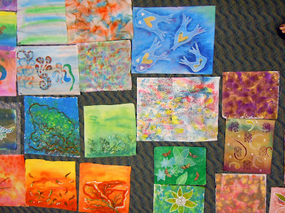 DSCN3084 A Sea of Colorful Fabric Using 10 Techniques with Acrylic Inks