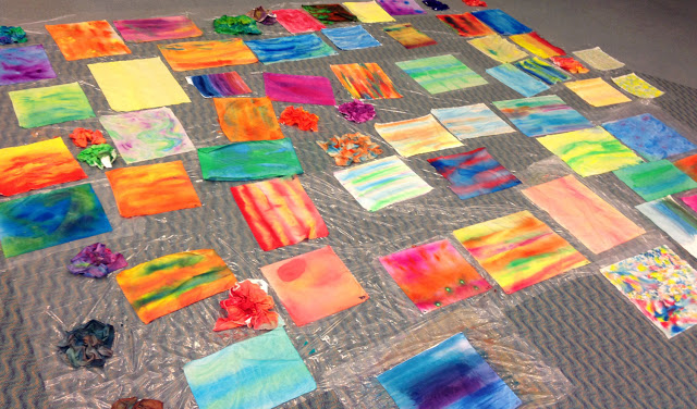 IMG 2573 A Sea of Colorful Fabric Using 10 Techniques with Acrylic Inks