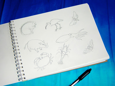 animal+sketches Design and Painting Process