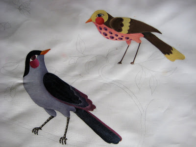 bird+det Painting Fabric