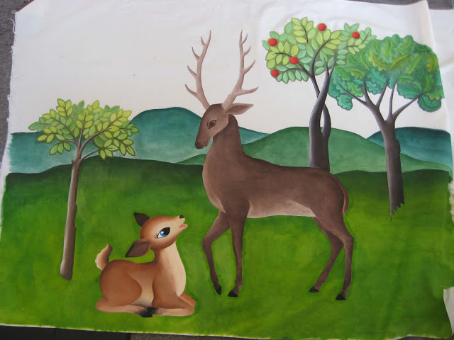 deer8 60s deer painted