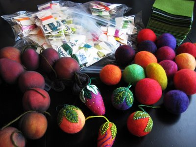 felted+fruits Prepping for MIU