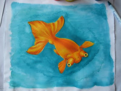 fish10 Ink Potion No. 9 with Tsukineko Inks Tutorial