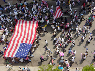 flag Immigration March