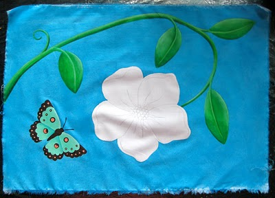 flowerwbutterfly Painting for an upcoming project
