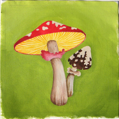 mushrooms Little Paintings