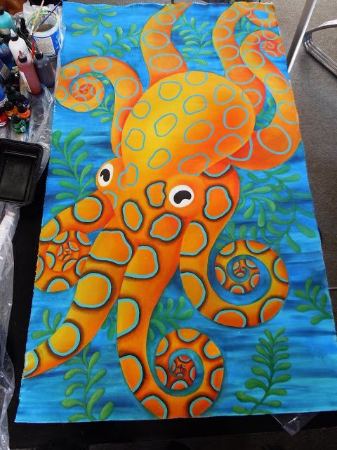 octopus+canvas Painting Canvas