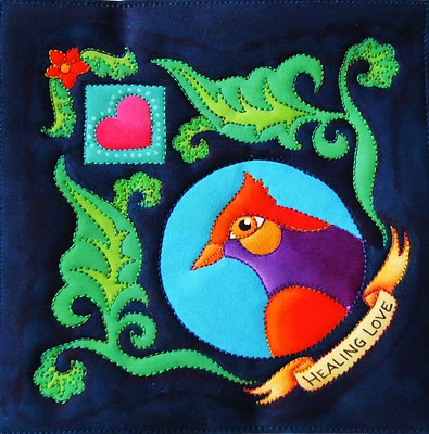 purp+red+bird A quilt of love and healing for Melly