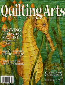 qa 26 cover1 Fauna Makes the Cover of Quilting Arts!