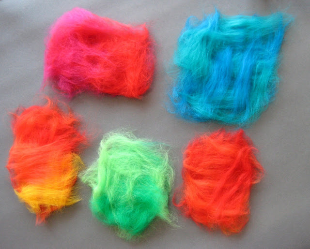roving+blanket Making Felted Wool Eggs