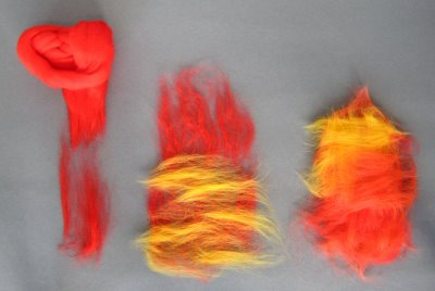 roving Felted Eggs