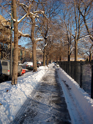 snowy+sidewalk Let it snow, let it snow, let it snow...