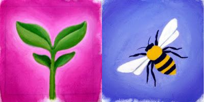 sprout+bee Little Paintings