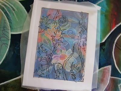tracing+paper Painting with FW inks