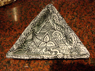 triangle+bowl Another break for pottery