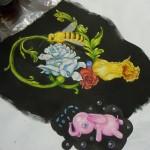 Indigo's painting