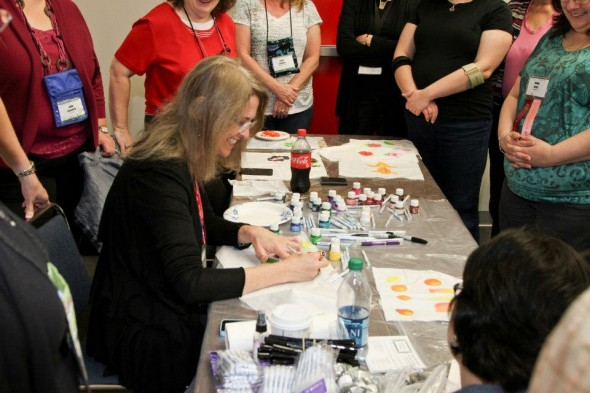 teaching inks houston 590x393 2 Great Tsukineko Inks Classes at Festival