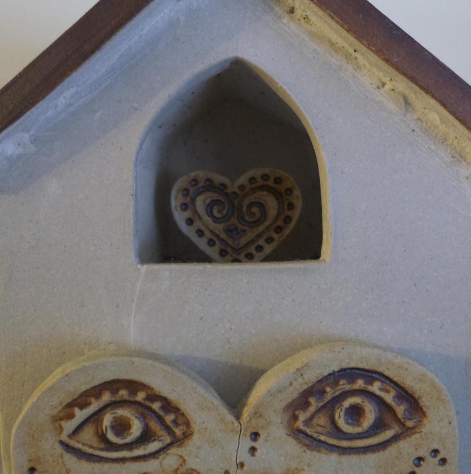 ceramic house heart