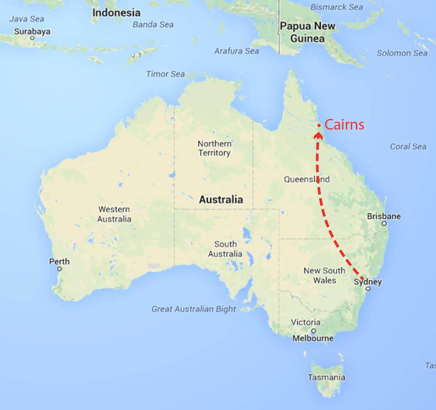 Australia Map Cairns Jpg Judy Coates Perez
