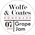 grape jam round label